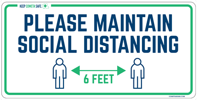 Please Maintain Social Distancing Floor Signs