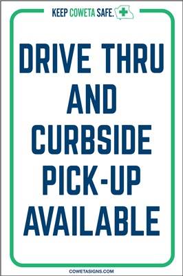 Drive-Thru & Curbside Pickup A-Frame Sign