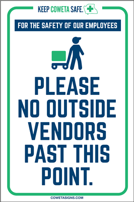 Please No Outside Vendors Poster