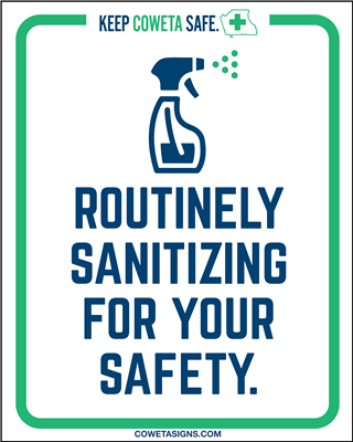 Routinely Sanitizing Poster