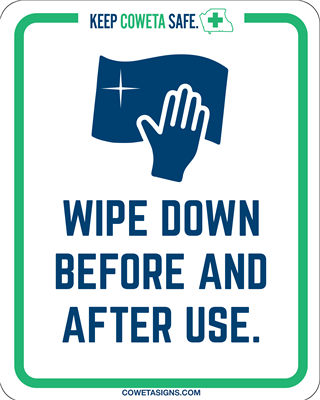 Wipe Down Before & After Use Poster